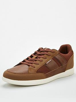 jack & jones Jack & Jones Byson Mesh Mix Trainers - Brown Picture