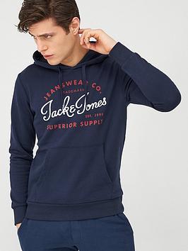 jack & jones Jack & Jones Essentials Logo Pullover Hoodie - Navy Picture