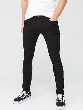 Jack & Jones Intelligence Liam Skinny Fit Jeans - Black