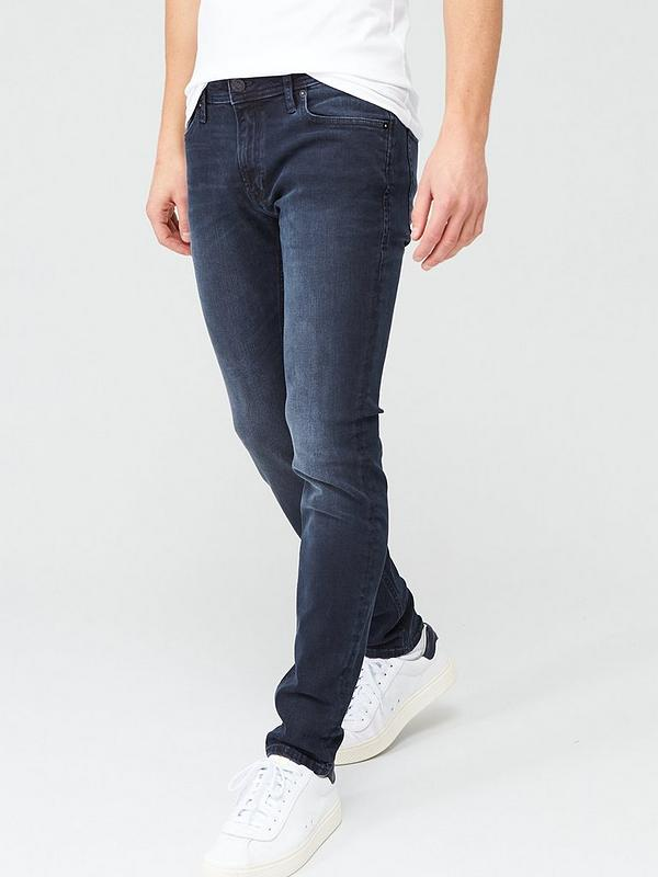 Diventare matto Piuttosto rullo  Jack & Jones Intelligence Liam Skinny Fit Jeans - Blue/Black |  littlewoods.com