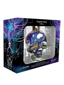 Very Crystal Head Aurora Gift Set With 4 Shot Glasses Picture