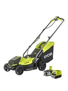 ryobi-rlm18x33b40-18v-one-cordless-33cm-lawnmower-starter-kit-1-x-40ah
