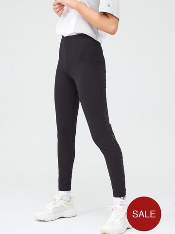 Calvin Klein Jeans Institutional Logo Leggings Black Littlewoods Com