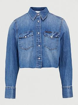 Calvin Klein Jeans   Foundation Trucker Jacket - Light Blue