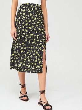 Calvin Klein Jeans Calvin Klein Jeans Floral Midi Skirt - Multi Picture