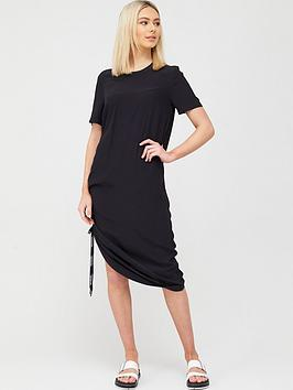 Calvin Klein Jeans Calvin Klein Jeans Short Sleeve Drapey Dress With  ... Picture