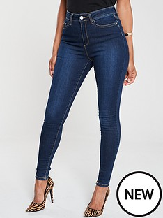v-by-very-short-florence-high-rise-skinny-jean-indigo