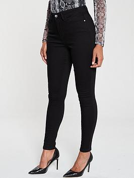 V by Very V By Very Florence High Rise Skinny Jean - Black Picture