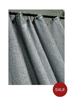 aqualona-grey-slub-shower-curtain
