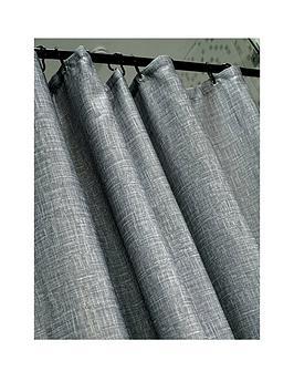 AQUALONA  Aqualona Grey Slub Shower Curtain