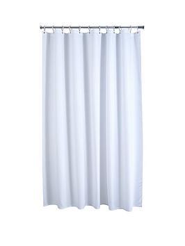 AQUALONA Aqualona White Waffle Shower Curtain Picture
