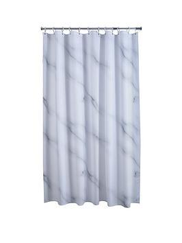AQUALONA Aqualona Marble Shower Curtain Picture