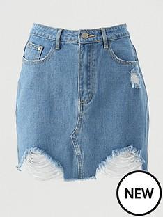 missguided-missguidednbspripped-denim-skirt-light-blue