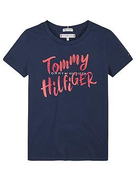 tommy-hilfiger-girls-large-graphic-short-sleeve-t-shirt-navy