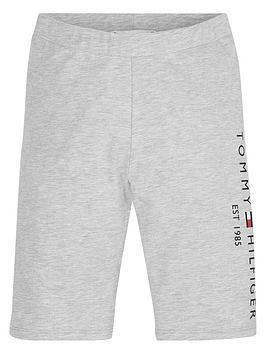tommy-hilfiger-girls-essential-logo-cycling-shorts-light-grey