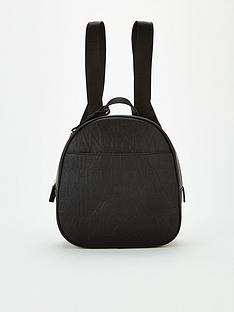 armani-exchange-embossed-backpack-black