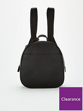 armani-exchange-embossed-backpack-black