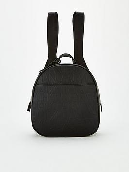 Armani Exchange Armani Exchange Embossed Backpack - Black Picture
