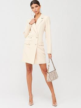 Missguided Missguided Missguided Oversized Blazer Dress - Nude Picture