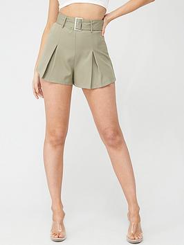 Missguided Missguided Missguided Belted Tailored Shorts - Mint Picture