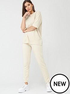 missguided-missguided-co-ord-t-shirt-jogger-set-seedpearl