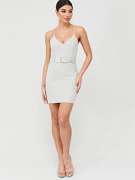 Missguided Missguided Missguided Suedette Belted Mini Dress - Mint Picture