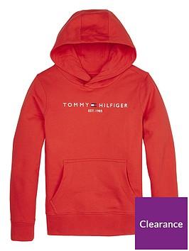 tommy-hilfiger-boys-essential-logo-hoodie-red