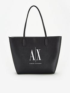 armani-exchange-logo-shopper-bag-black