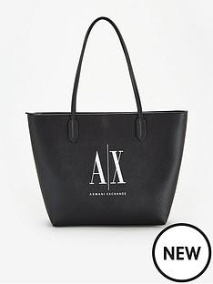 armani-exchange-logo-shopper-bag-black