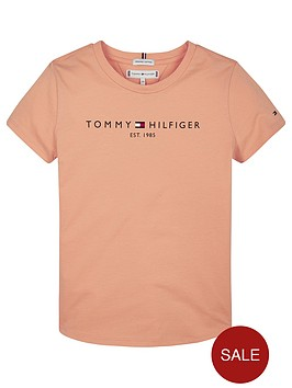tommy-hilfiger-girls-essential-logo-short-sleeve-t-shirt-orange