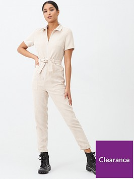 missguided-missguided-cord-utility-belted-jumpsuit-sand