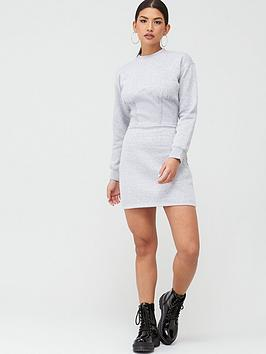 Missguided Missguided Missguided Corset Detail Sweater Dress - Grey Picture
