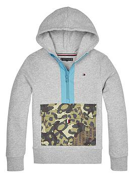 Tommy Hilfiger Tommy Hilfiger Boys Camo Pocket Hoodie - Light Grey Picture