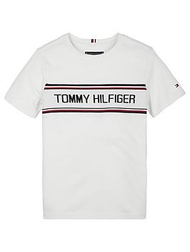 Tommy Hilfiger Tommy Hilfiger Boys Intarsia Short Sleeve T-Shirt - White Picture