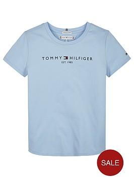 tommy-hilfiger-girls-essential-logo-short-sleeve-t-shirt-blue