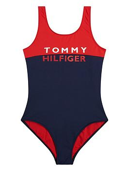 tommy-hilfiger-girls-colourblock-swimsuit-navyred