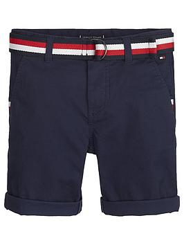 Tommy Hilfiger Tommy Hilfiger Boys Belted Chino Shorts - Navy Picture