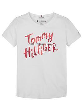 tommy-hilfiger-girls-large-graphic-short-sleeve-t-shirt-white