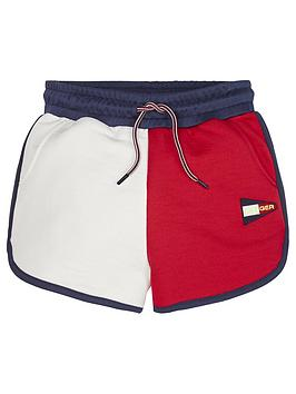Tommy Hilfiger Tommy Hilfiger Girls Colourblock Jersey Shorts - White/Navy Picture
