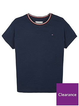 tommy-hilfiger-girls-essential-ringer-short-sleeve-t-shirt-navy