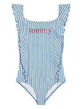 tommy-hilfiger-girls-stripe-frill-swimsuit-light-blue