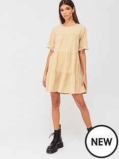 missguided-missguided-tiered-frill-sleeve-gingham-smock-dress-yellow