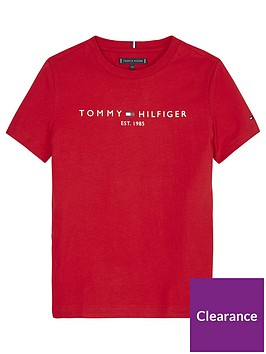 tommy-hilfiger-boys-essential-logo-t-shirt-red