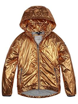 Tommy Hilfiger Tommy Hilfiger Girls Metallic High Shine Jacket - Orange Picture