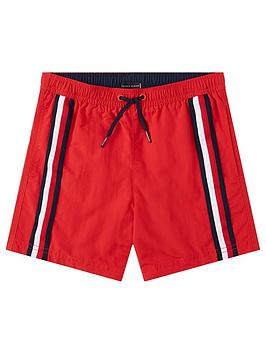 Tommy Hilfiger Tommy Hilfiger Boys Stripe Swim Shorts - Red Picture