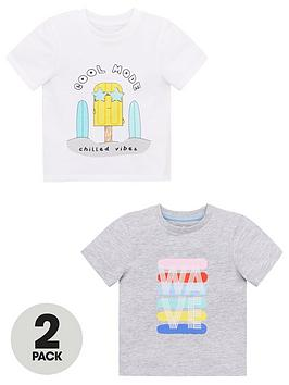 V by Very V By Very Boys 2 Pack Wave Tees - Multi Picture