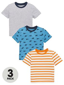 V by Very V By Very Boys 3 Pack Jungle Print And Striped Short Sleeve  ... Picture