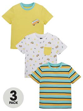 V by Very V By Very Boys 3 Pack Camper Van Tees - Multi Picture