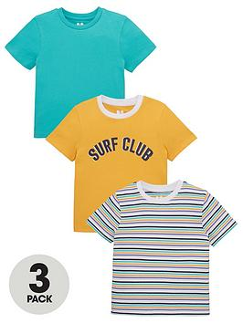 V by Very V By Very Boys 3 Pack Surf Club Tees - Multi Picture