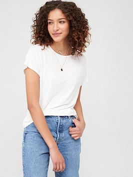 V by Very V By Very The Essential Scoop Neck T-Shirt - White Picture